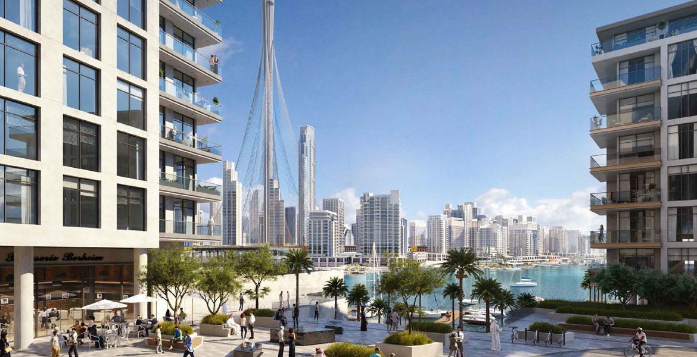 كريك إيدج من إعمار العقارية   الشقق الفاخرة على الواجهة البحرية في ميناء خور دبي