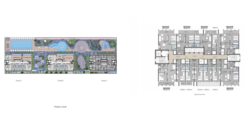 مخطط الطوابق النموذجي