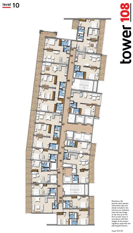 داماك تاور 108 - مخطط الطوابق