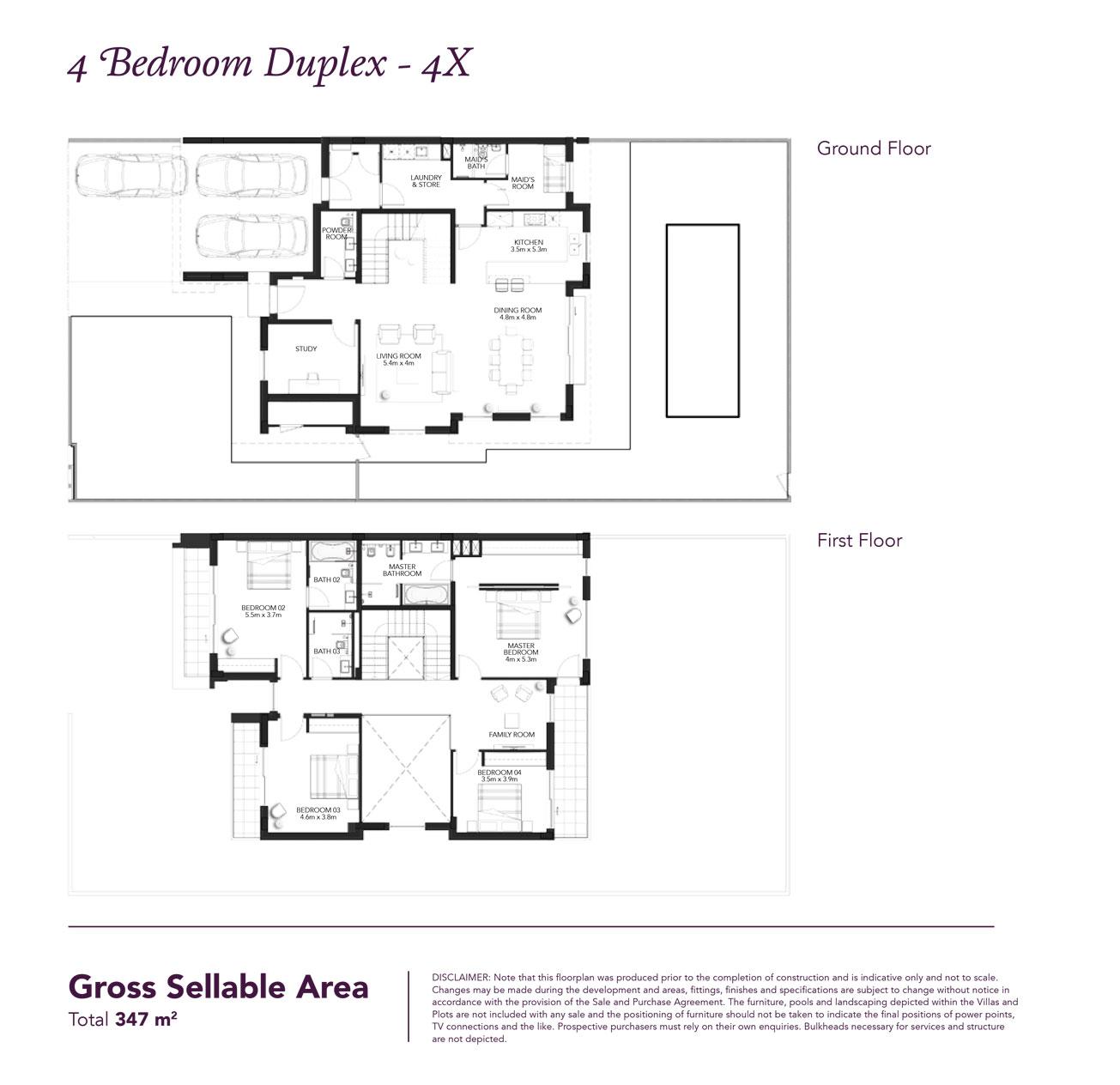 تاون هاوس من 4 غرف نوم - مساحة مبنية 3733 قدم مربع