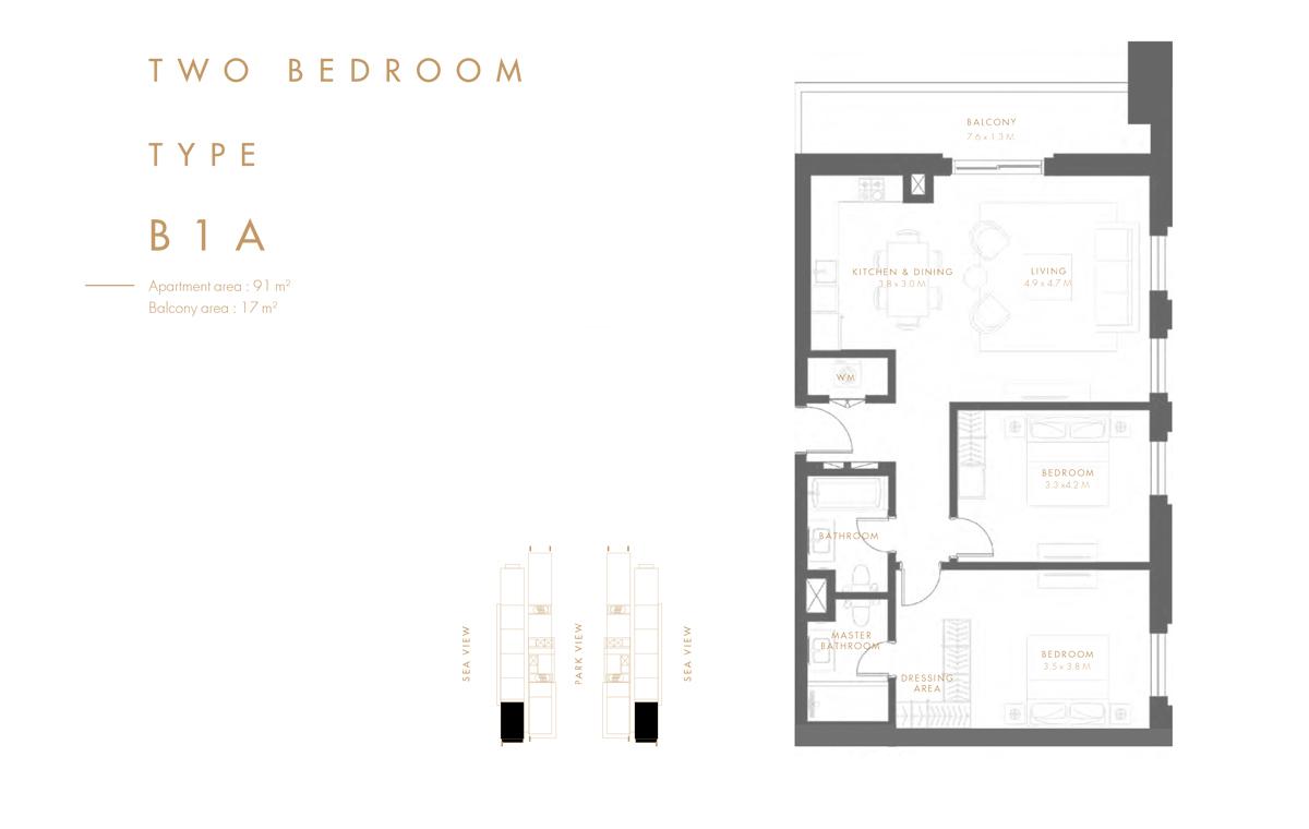 Bedroom 2  Type B1 A