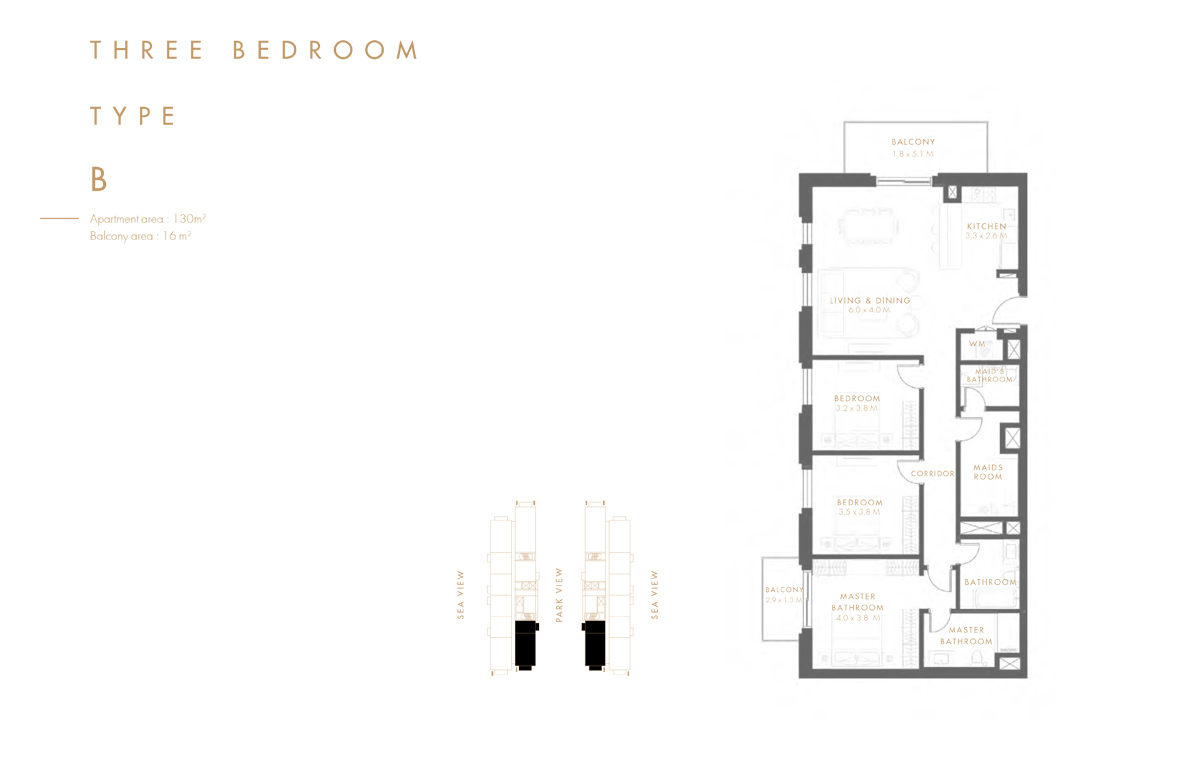 Bedroom 3 Type B
