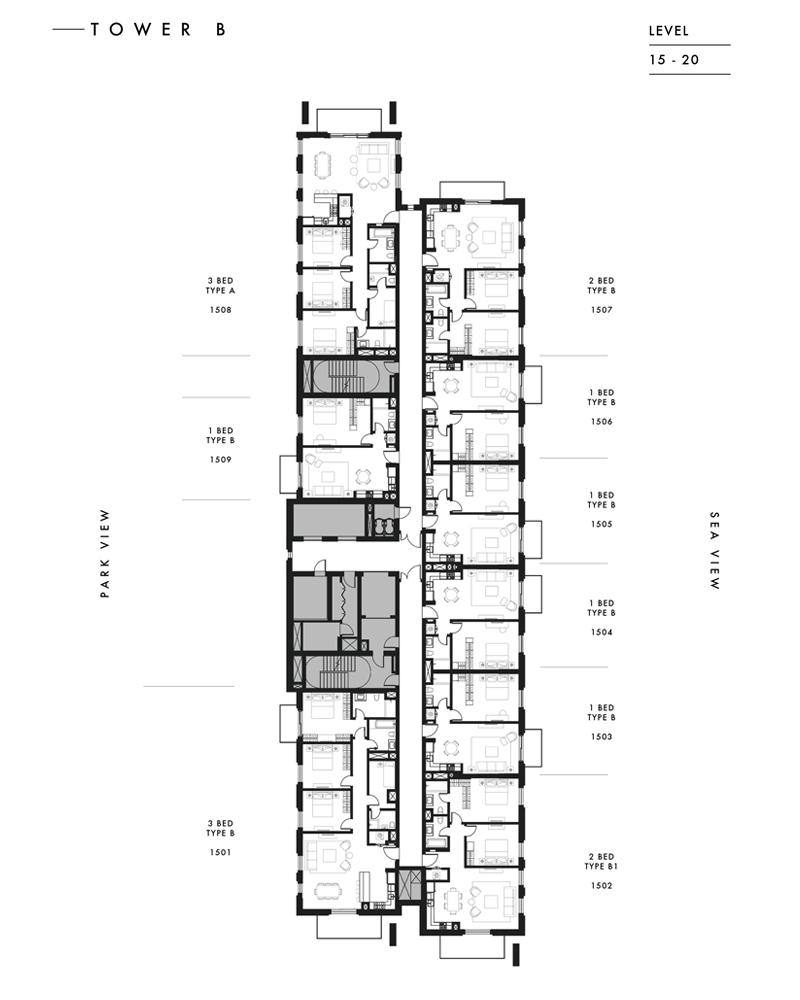Tower B - Level 15 - 20