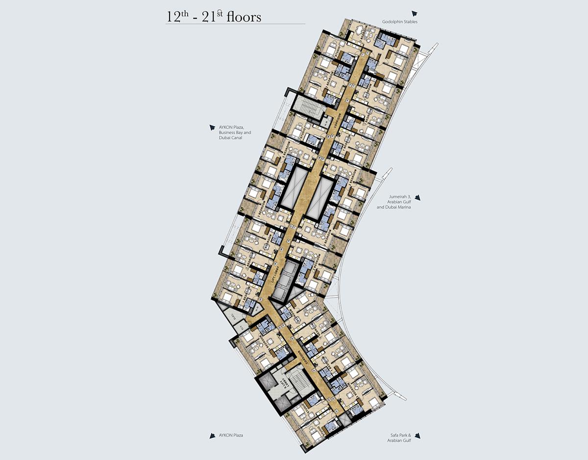 12th-21st-Floors