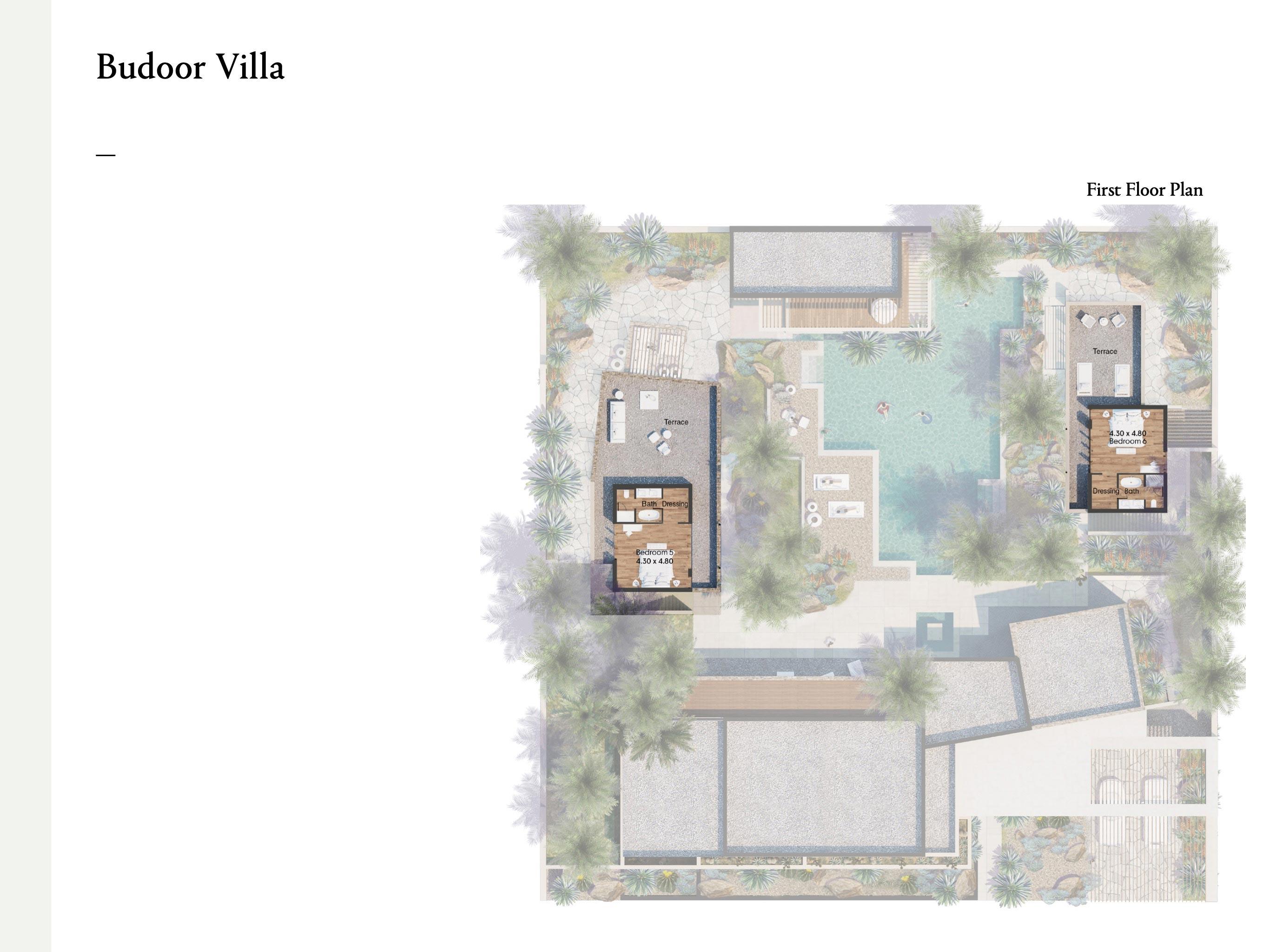 فلل من أربع غرف نوم بمساحة 419 متر مربع