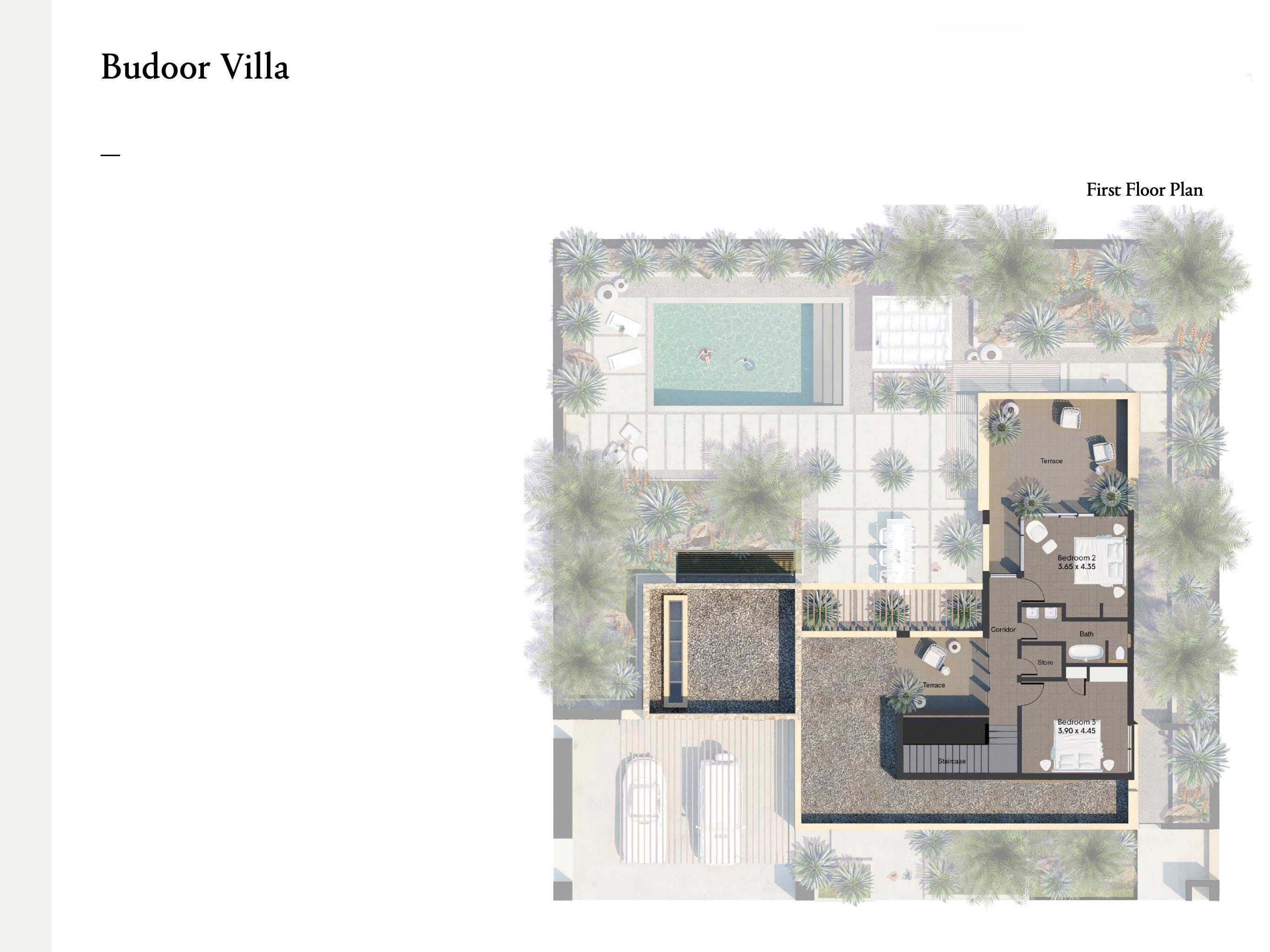 فلل من ثلاث غرف نوم بمساحة 419 متر مربع