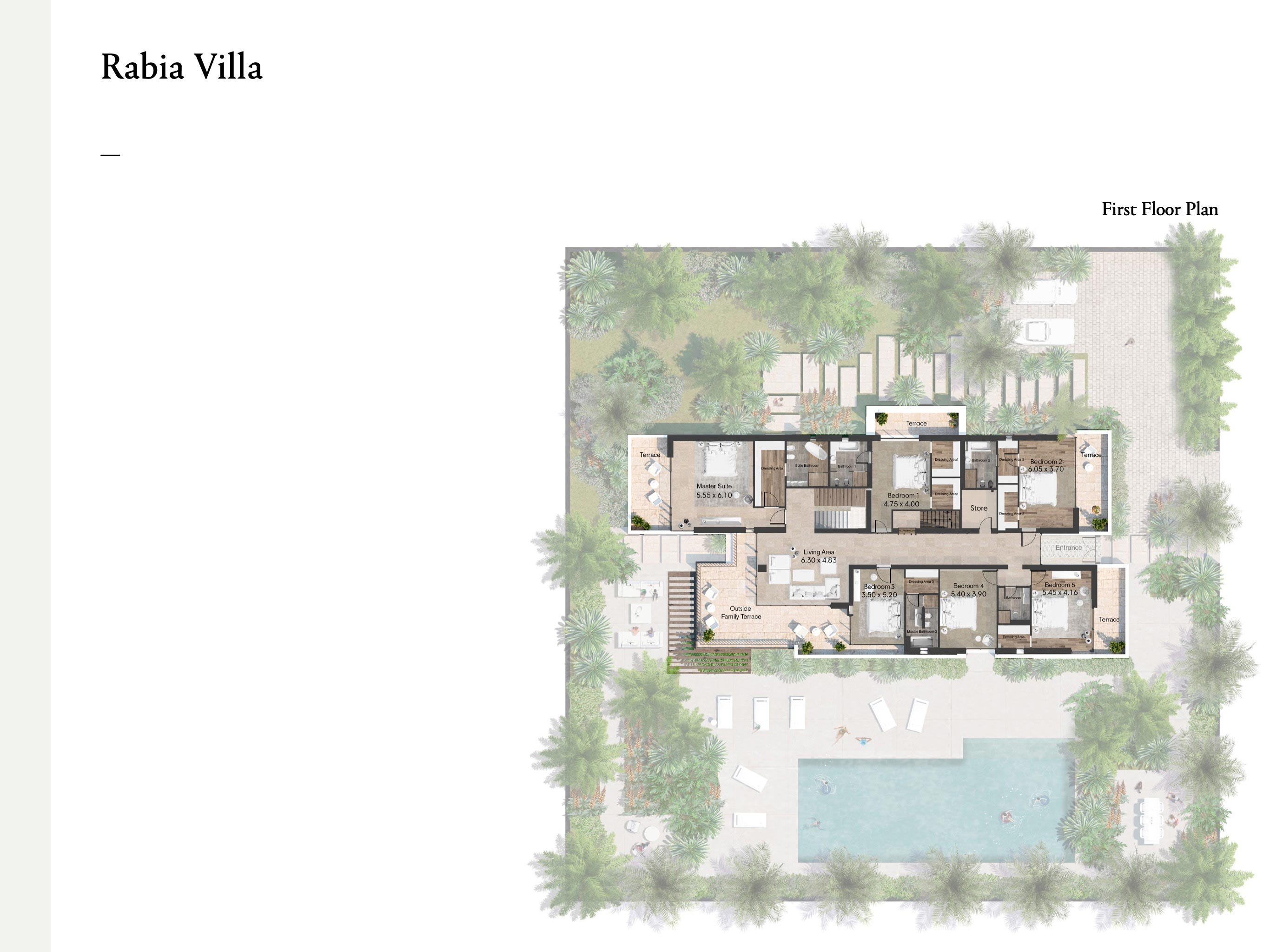 سبع غرف نوم مع الحجم 1126 متر مربع