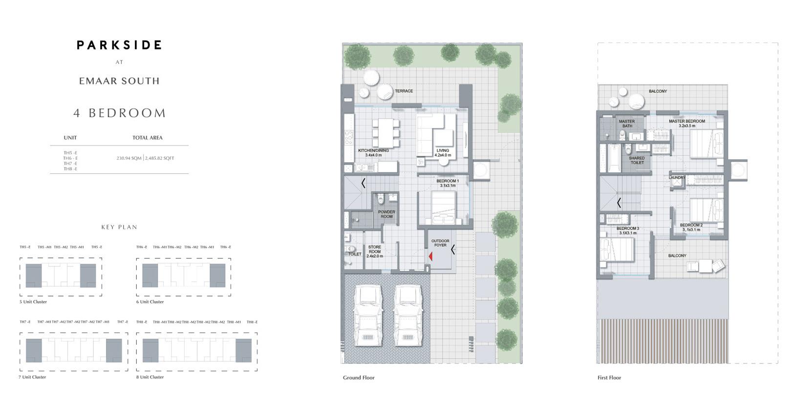 4 غرف نوم 2،485.82 قدم مربع