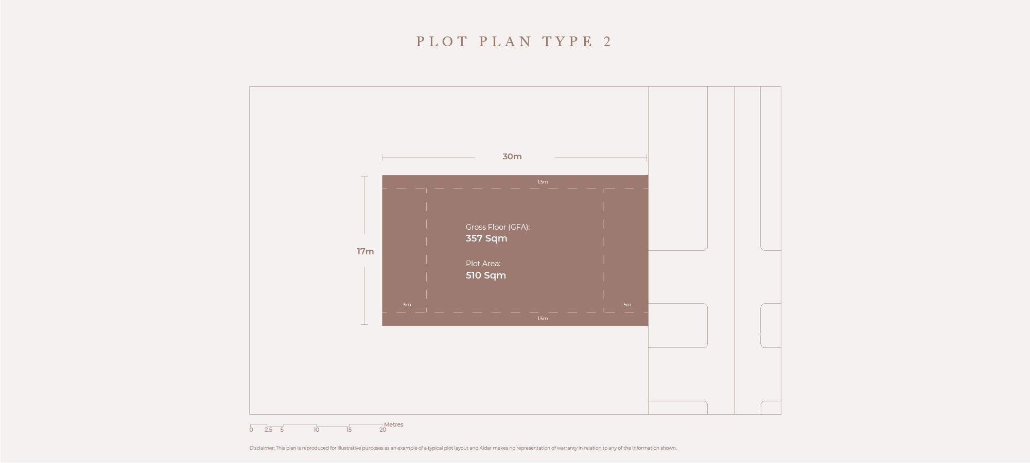 قطع أرض،  نوع الخطة 2، حجم 510 متر مربع