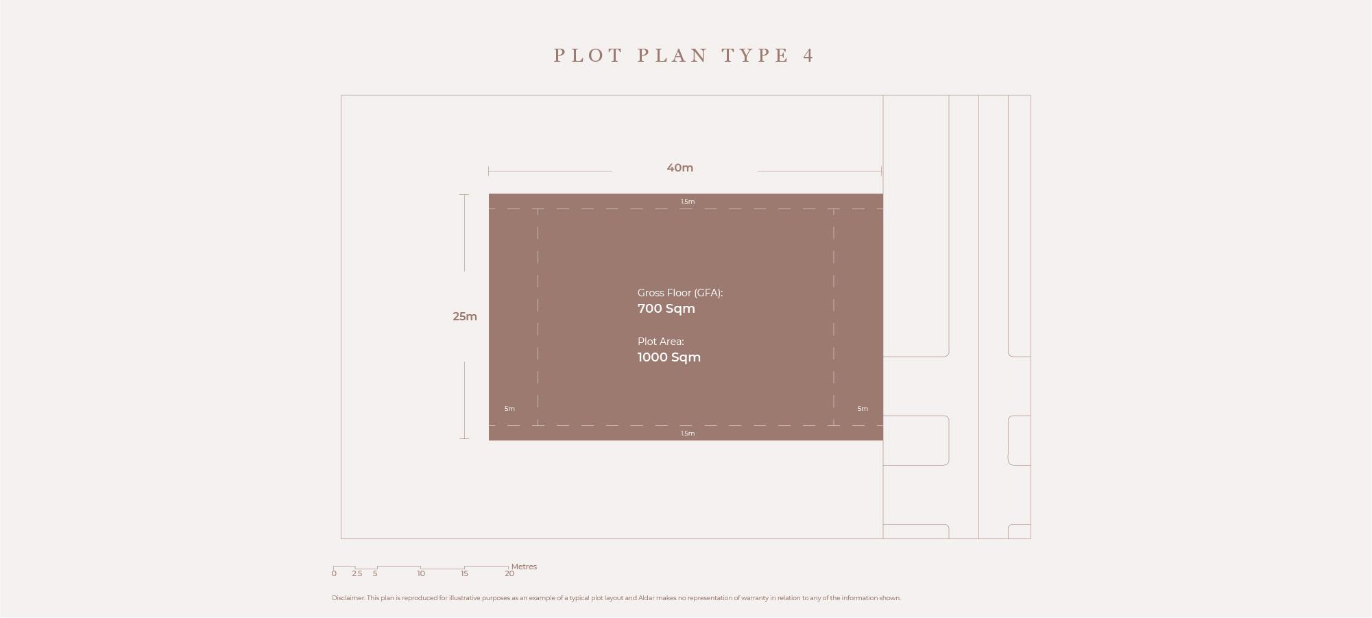 قطع أرض،  نوع الخطة 4 ، حجم 1000 متر مربع