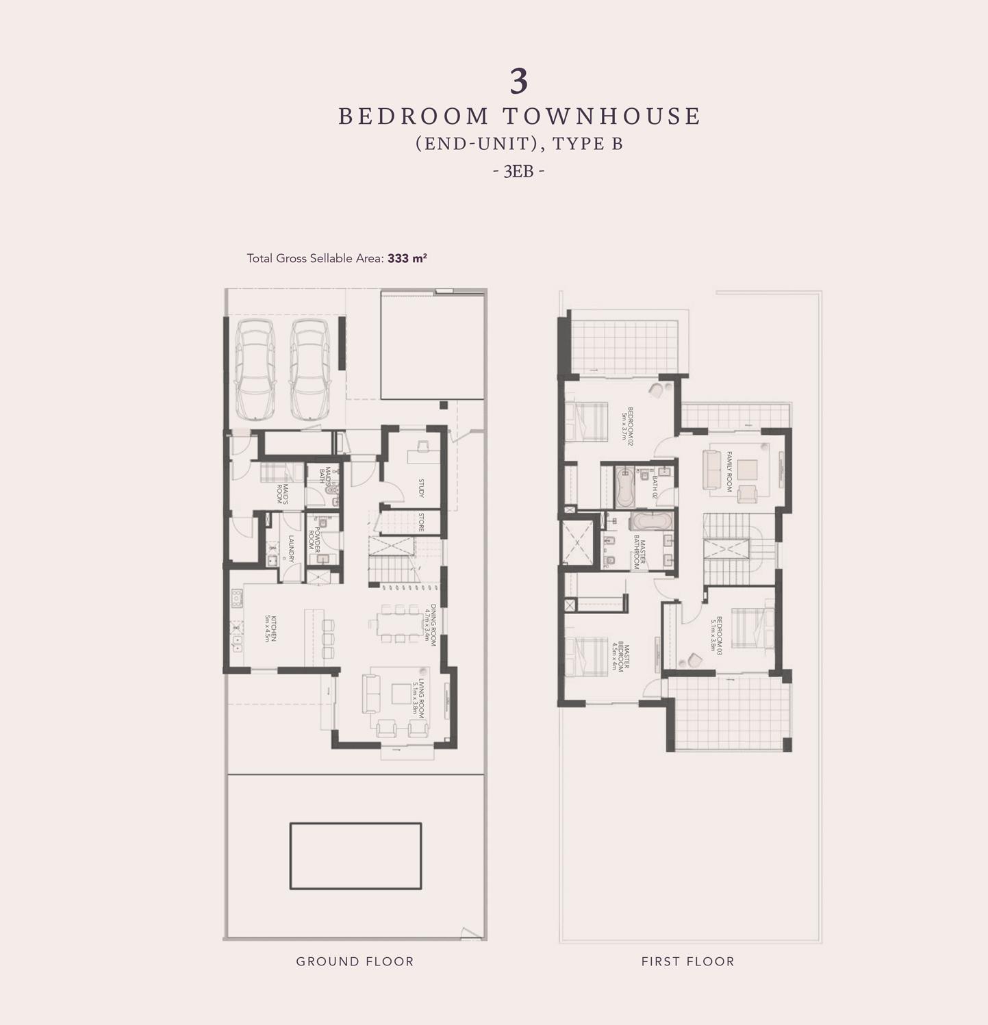 3 غرف نوم - من نوع B-3EB
