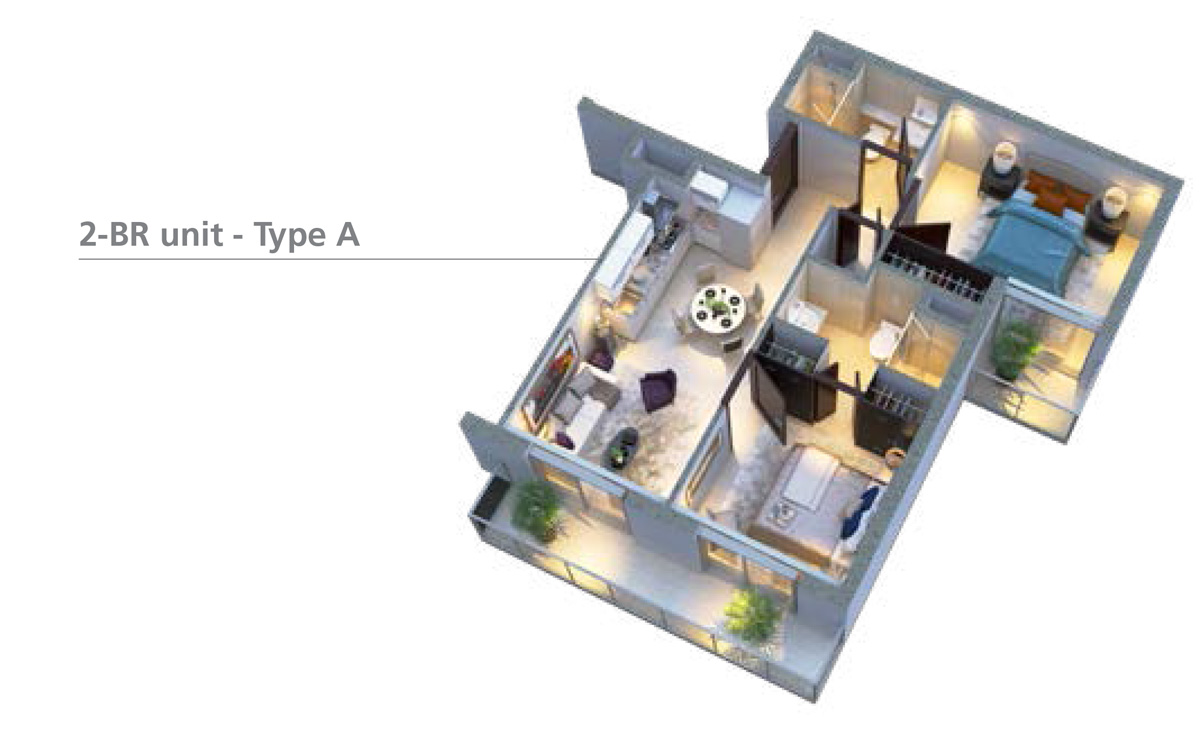 غرفتي نوم – وحدة – نوع A