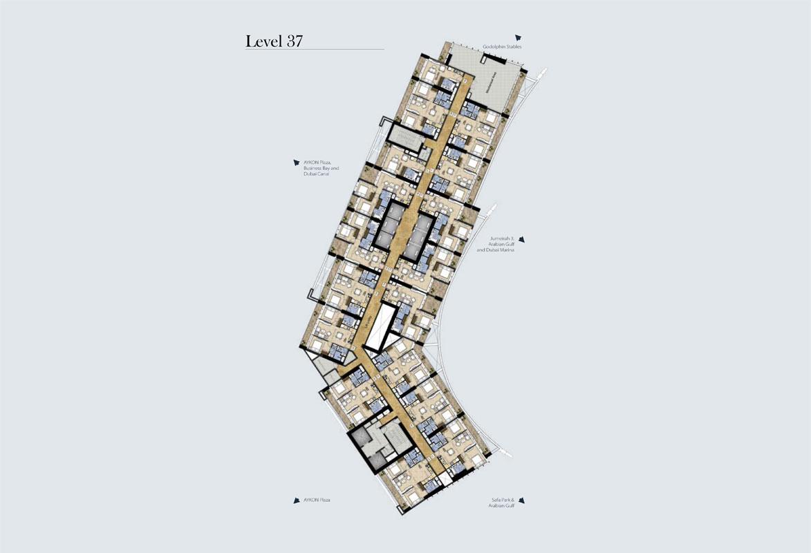 مخطط طوابق نموذجي، المستوى -37