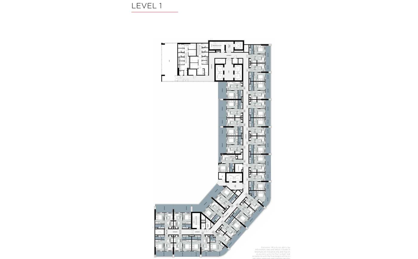 مخطط طوابق نموذجي ، المستوى 1