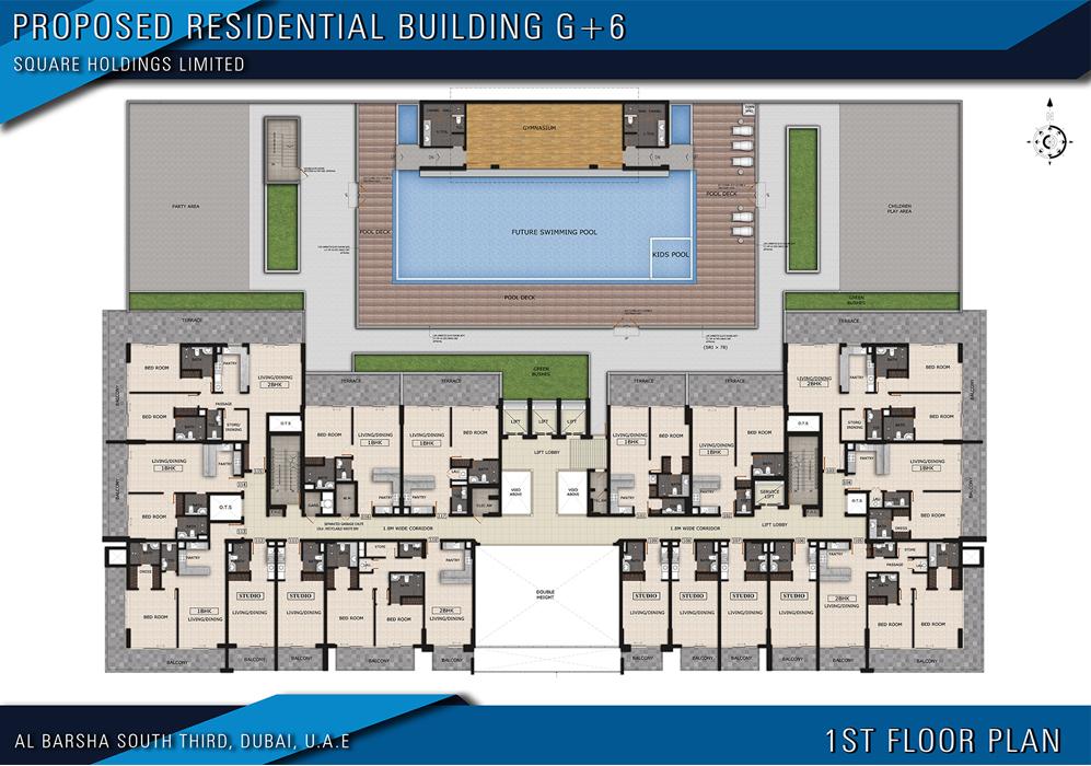 مخطط الطابق الأول