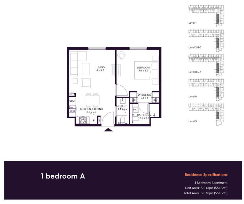 1-BR-A,-Residences-Specification,-Size-551-sq.ft