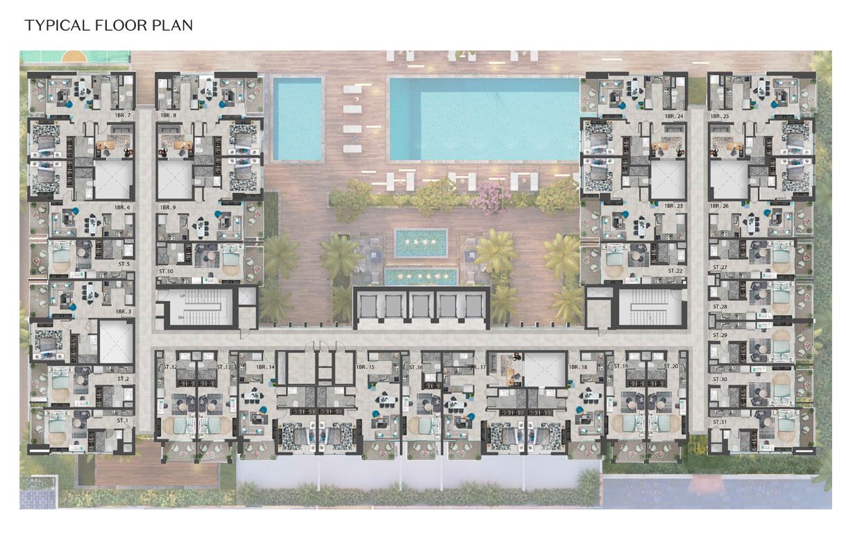 خطة الطابق النموذجية
