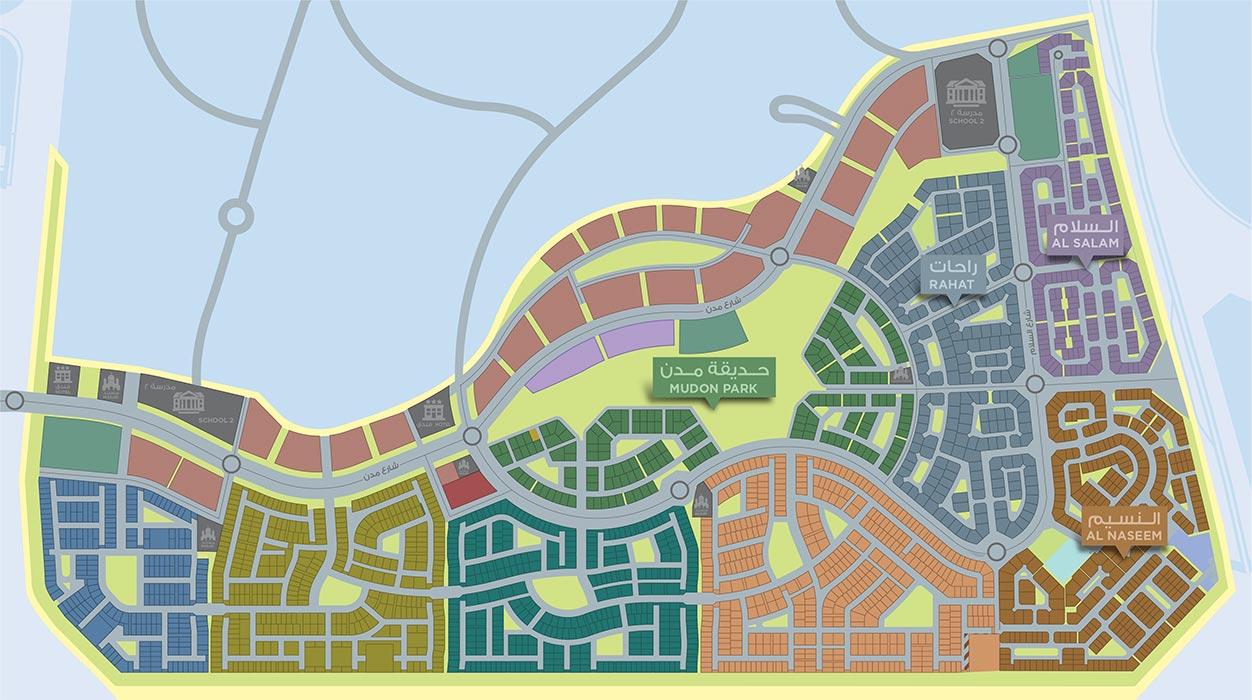 شقق-مدن-فيوز  المخطط الرئيسي