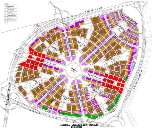 أبراج-بلوم-قرية-جميرا  المخطط الرئيسي