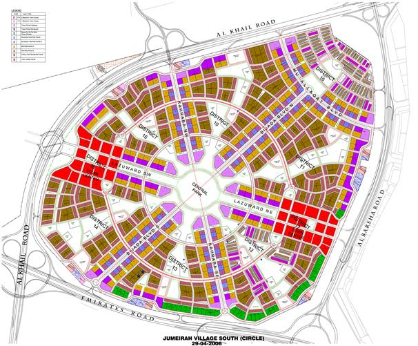 ذا-وان-في-قرية-جميرا  المخطط الرئيسي
