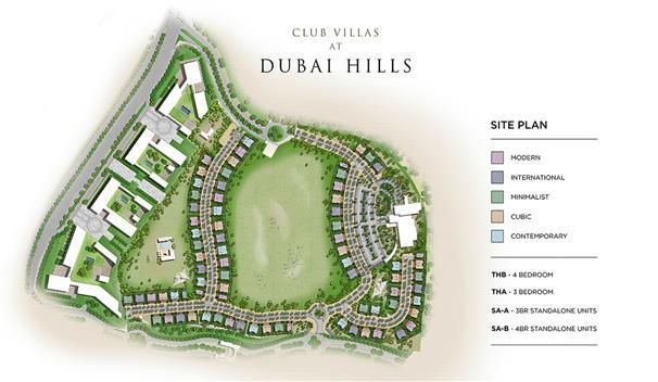 كلوب-فيلاز-دبي-هيلز  المخطط الرئيسي