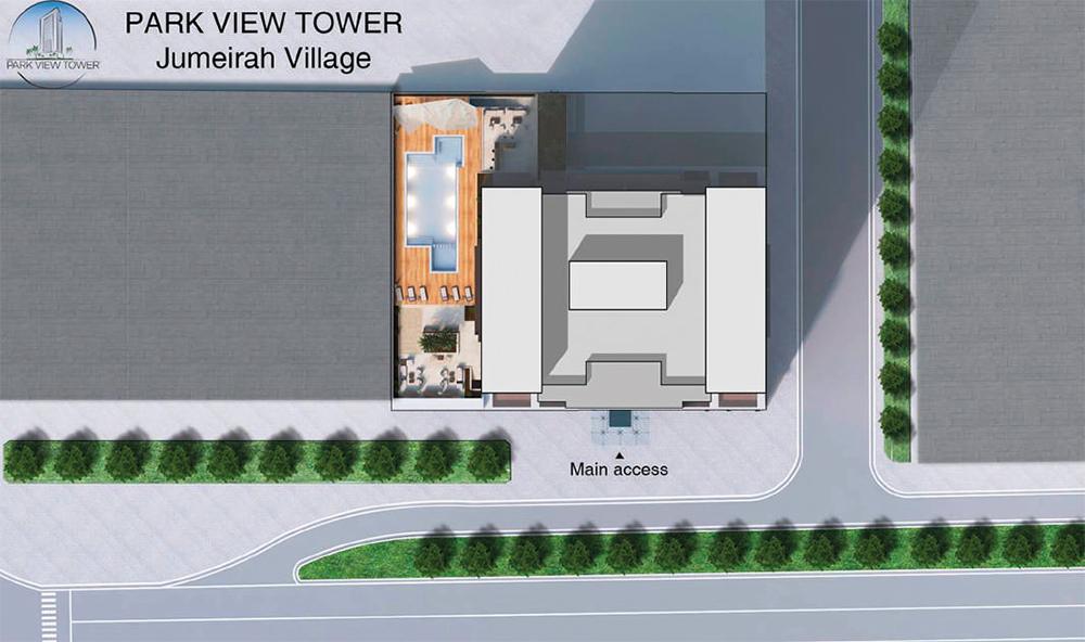 برج-بارك-فيو  المخطط الرئيسي