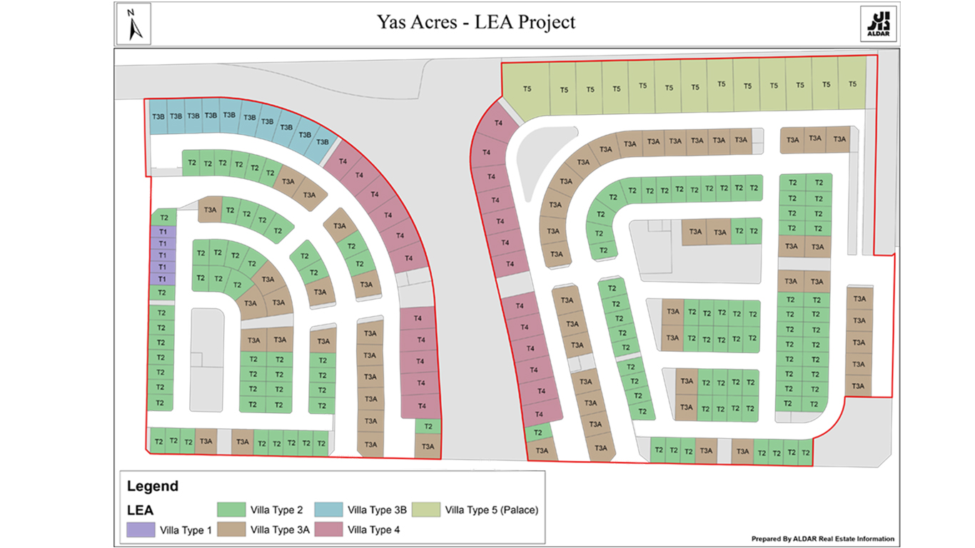 ليا-جزيرة-ياس  المخطط الرئيسي