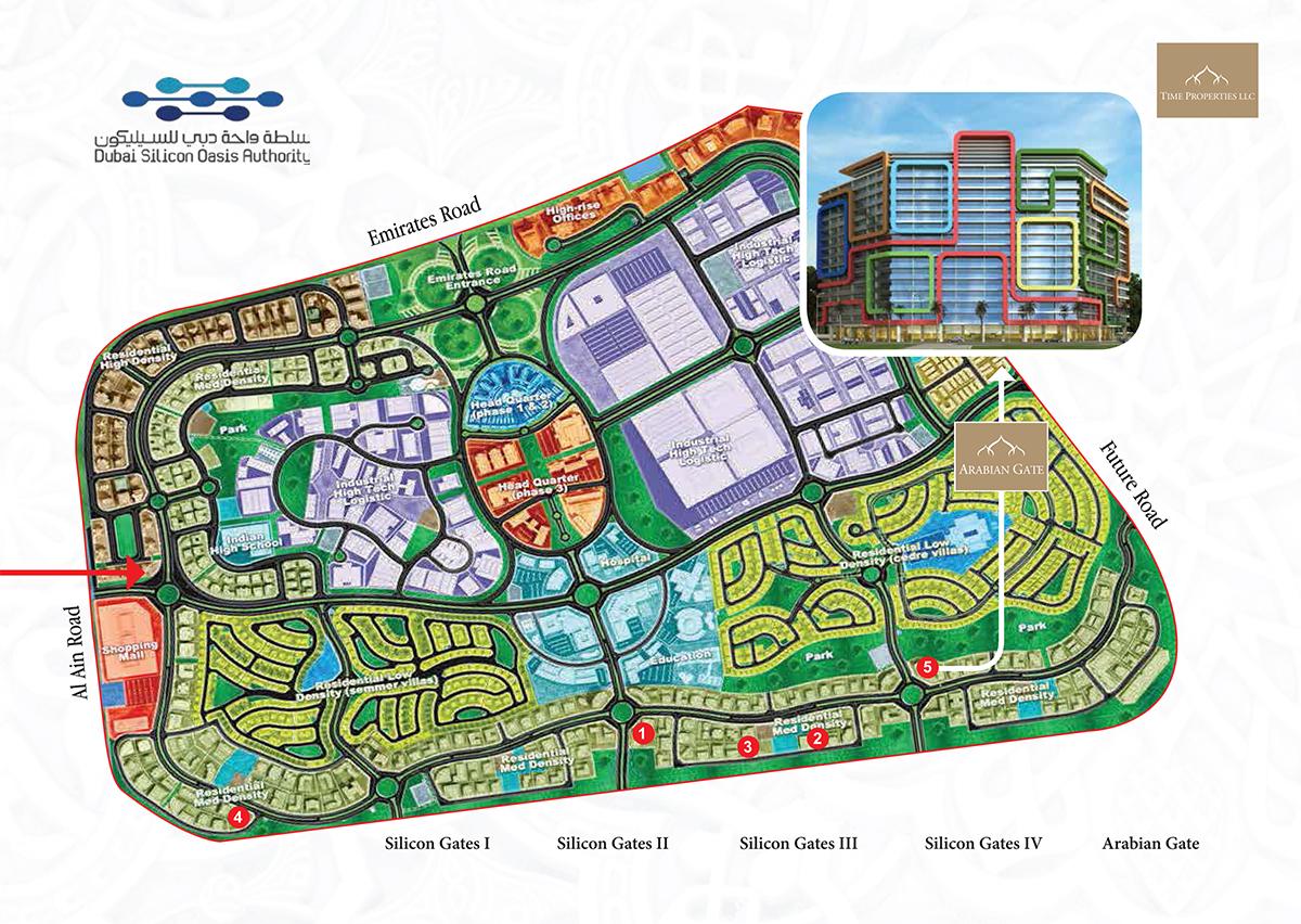 البوابة-العربية-2  المخطط الرئيسي