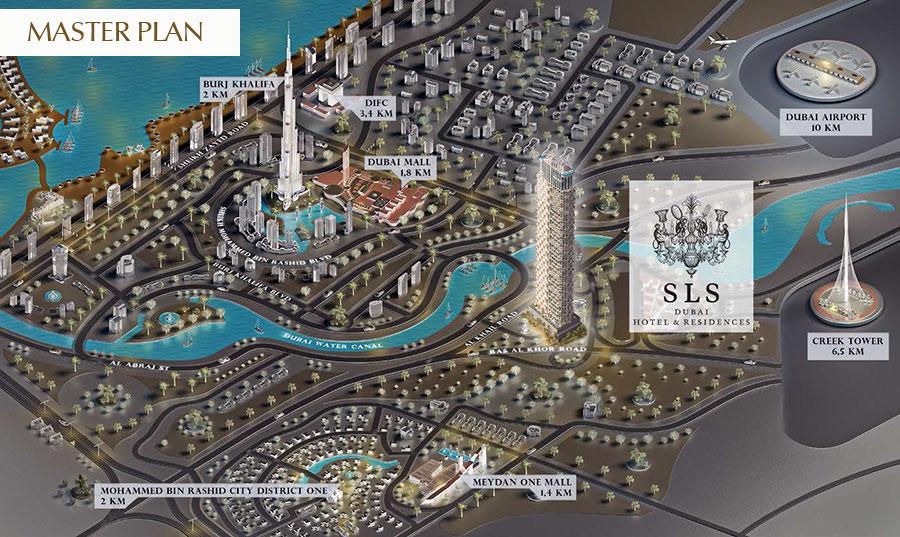 إس-إل-إس-ريزيدنسز-في-دبي  المخطط الرئيسي