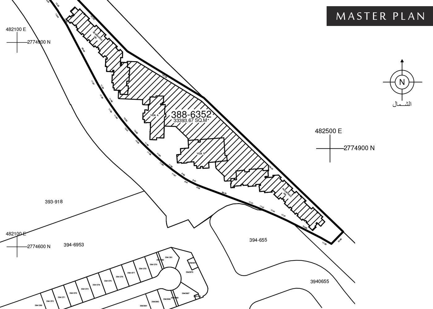 فيدا-ريزيدنسز-ذا-هيلز  المخطط الرئيسي
