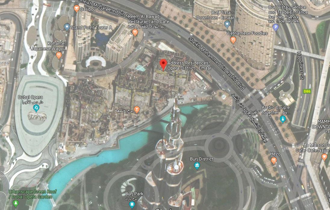 العنوان-رزيدنسز-دبي-أوبرا  المخطط الرئيسي