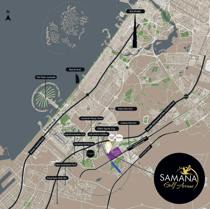 سمانا-جولف-أفنيو  المخطط الرئيسي