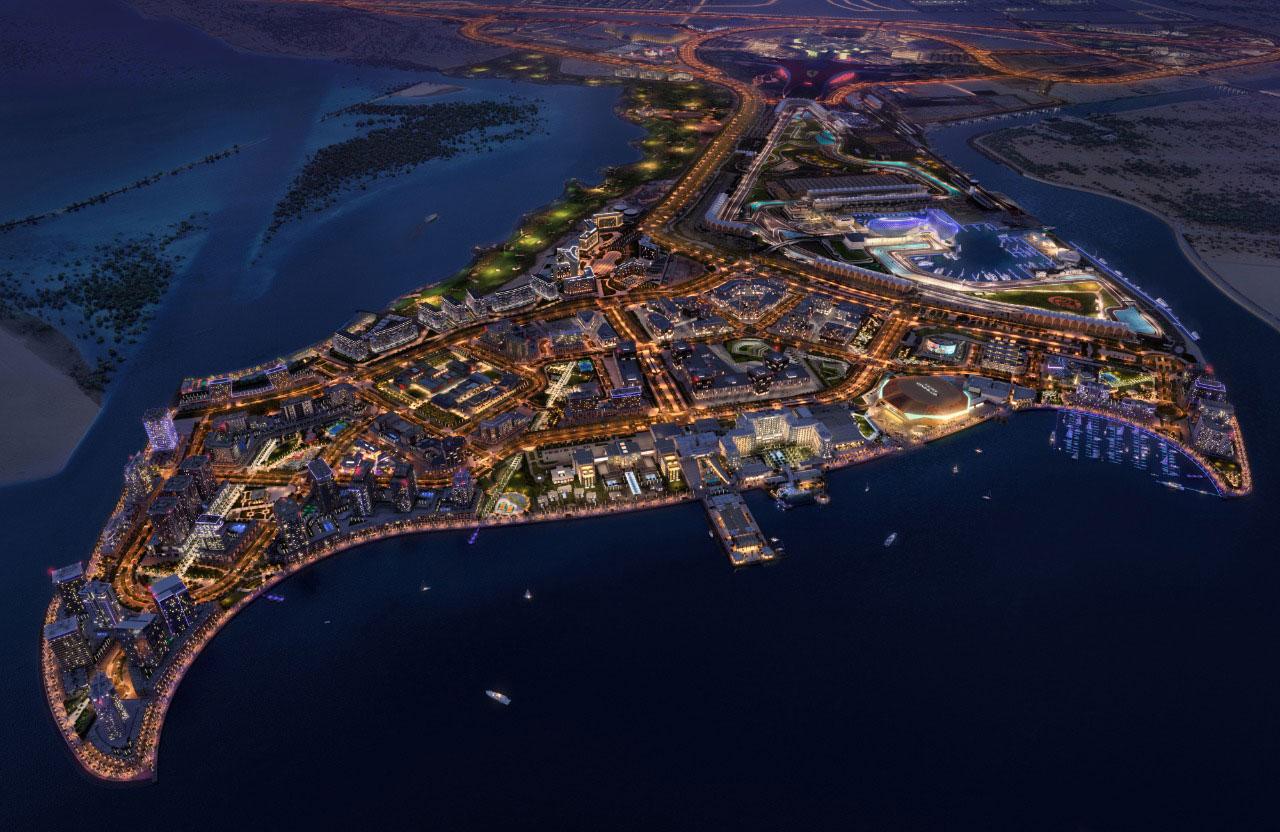 ديفا-في-جزيرة-ياس  المخطط الرئيسي