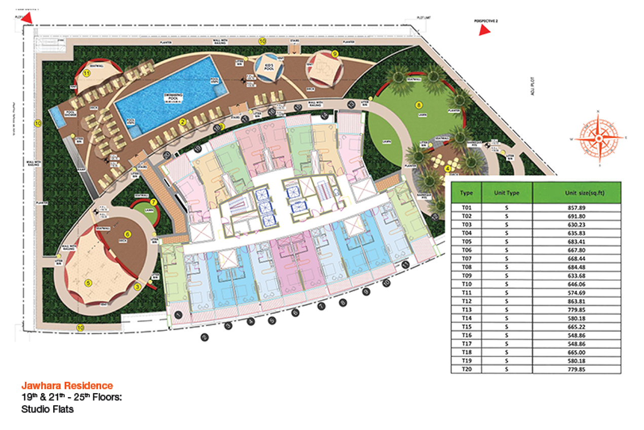 بناء-الجوهرة-السكني  المخطط الرئيسي