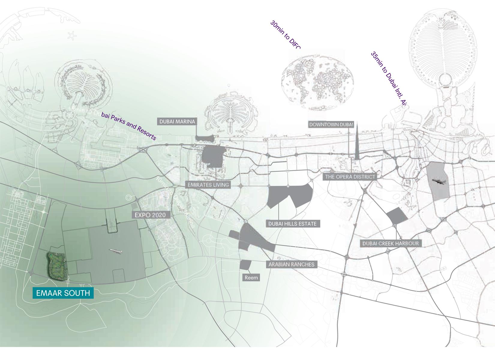 ساوث-أربانا-2 خريطة الموقع