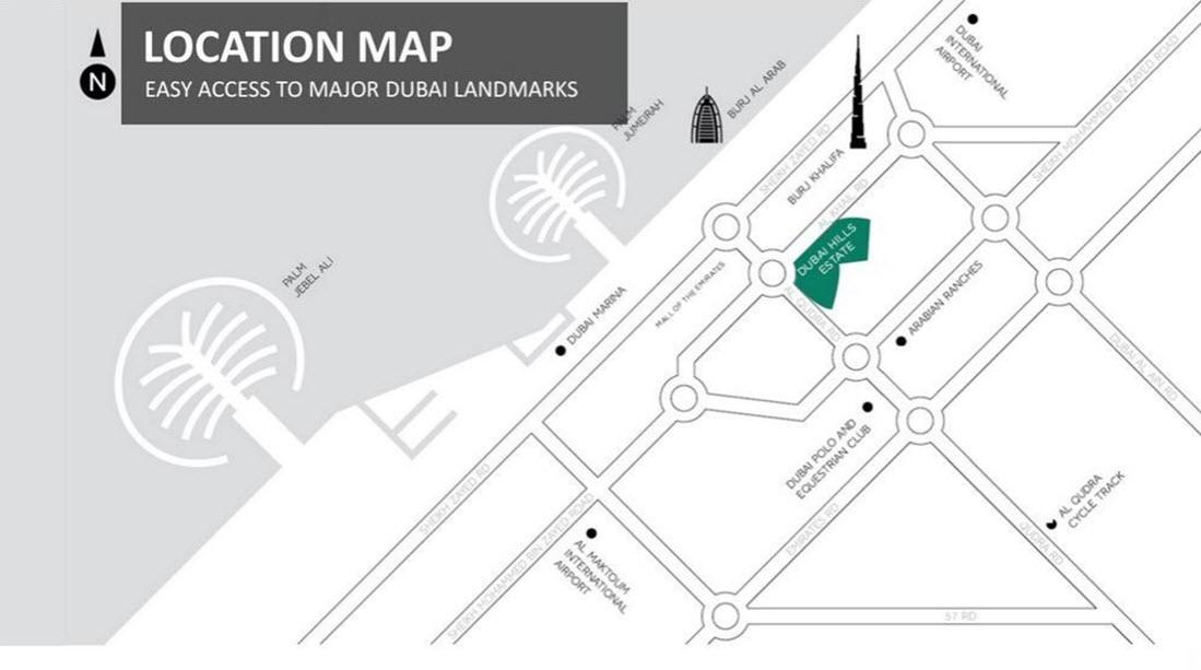 إعمار-بارك-واي-فيستاز خريطة الموقع