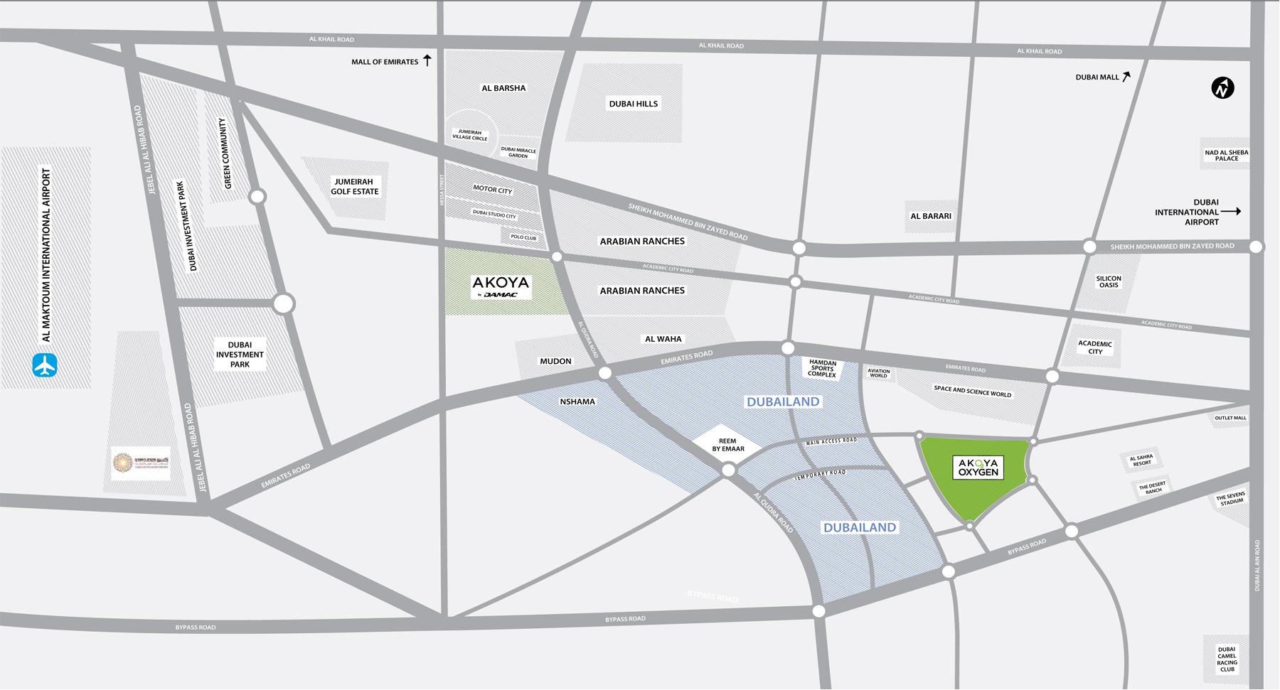 فلل-اكويا-كواترو خريطة الموقع