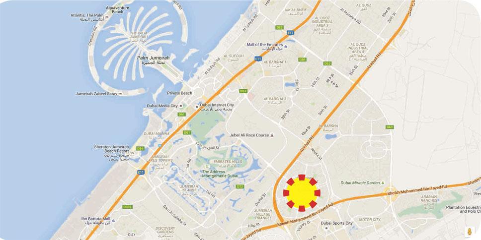 ألكوف-غروفي خريطة الموقع