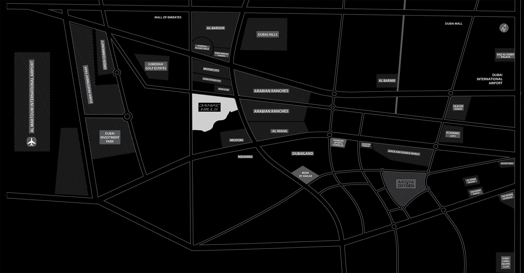 شقق-أكويا-أوركيد خريطة الموقع
