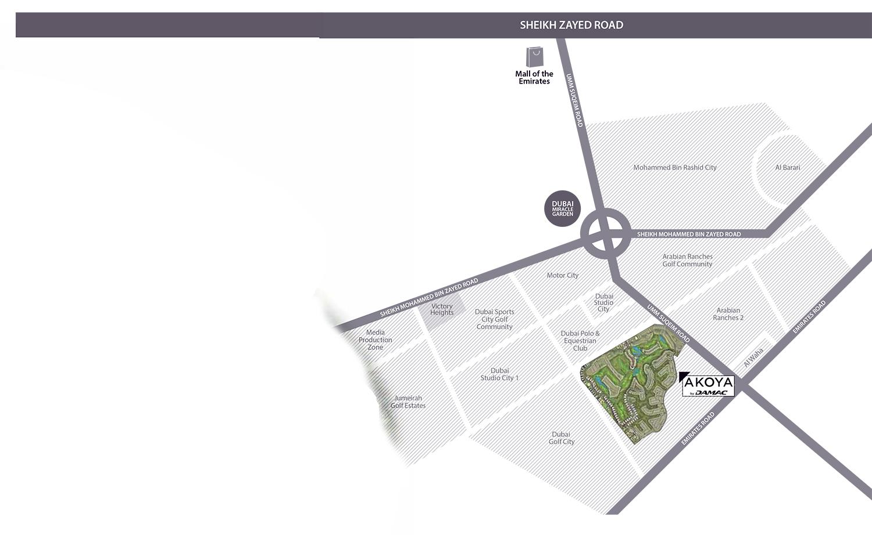 لوريتو-أكويا-بارك خريطة الموقع