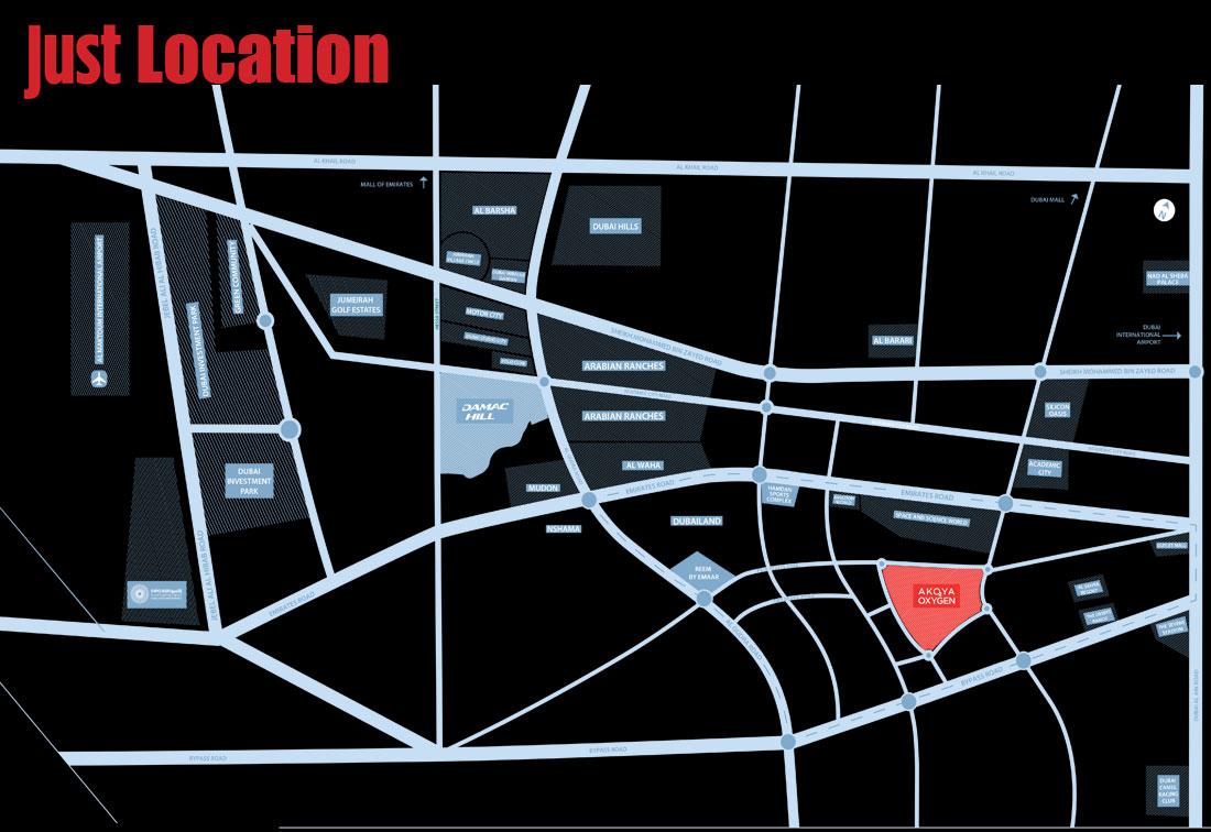 فلل-جست-كافالي خريطة الموقع