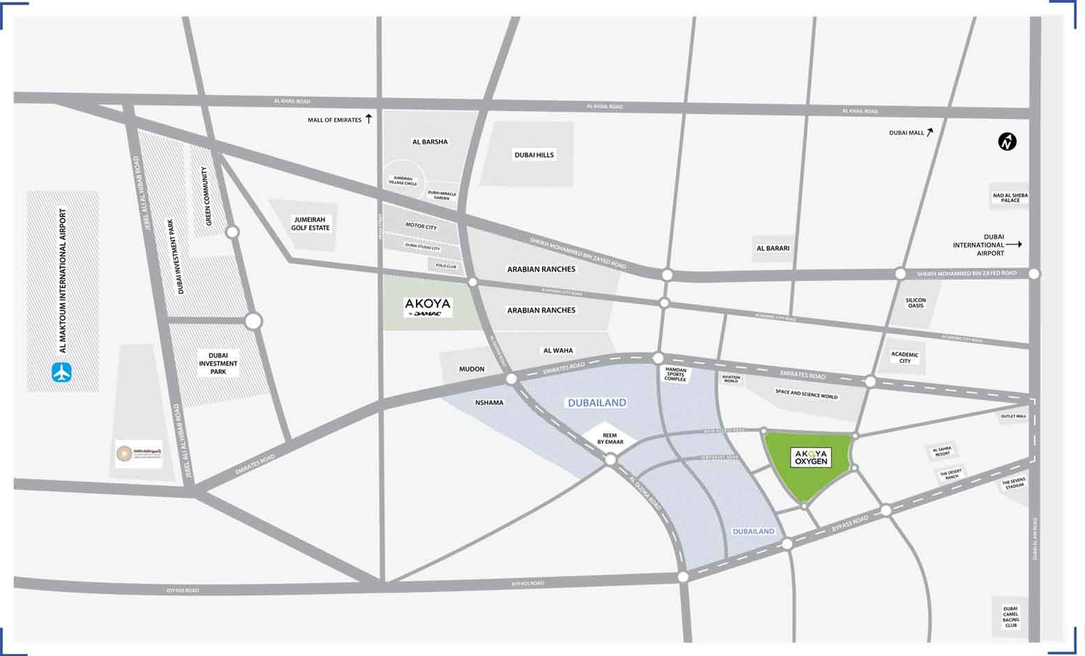 فلل-أكويا-سيلفي خريطة الموقع