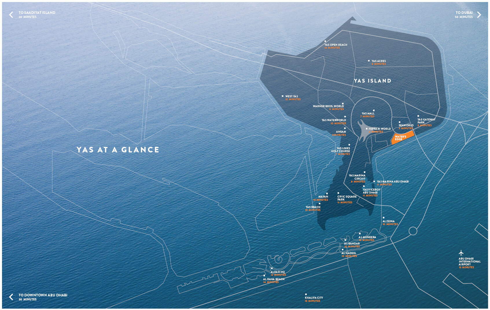 واترز-إدج خريطة الموقع