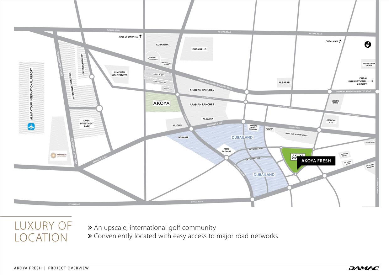 اكويا-فريش-فيلا خريطة الموقع