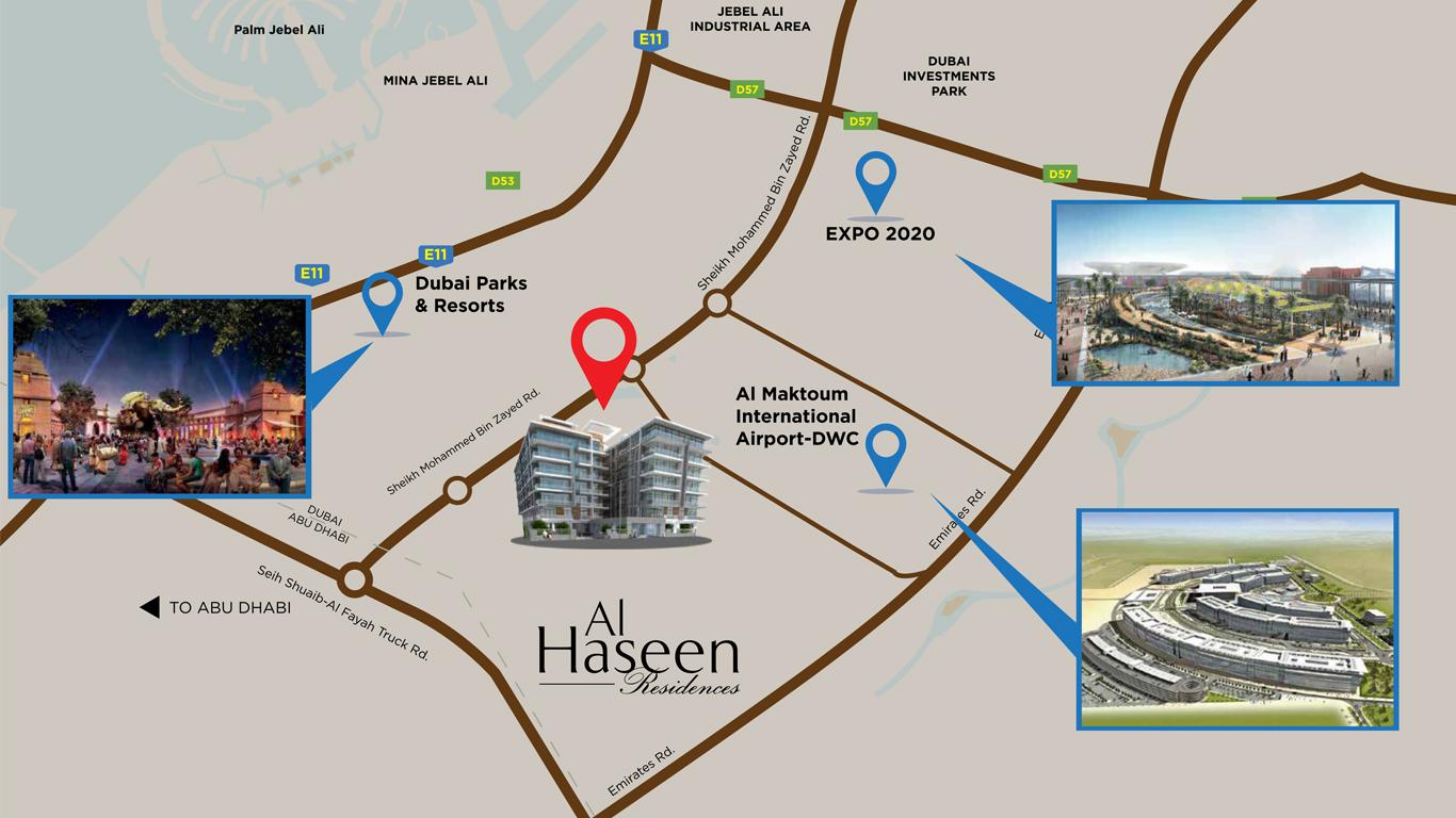الحسين-رزيدنسز خريطة الموقع