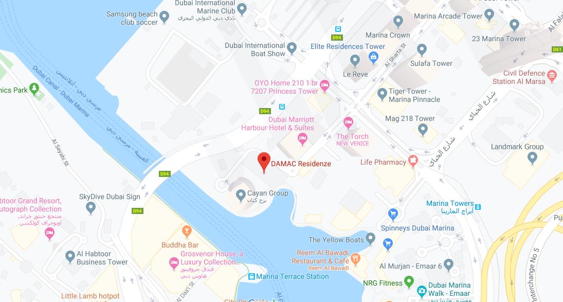 داماك-ريزيدنزي خريطة الموقع
