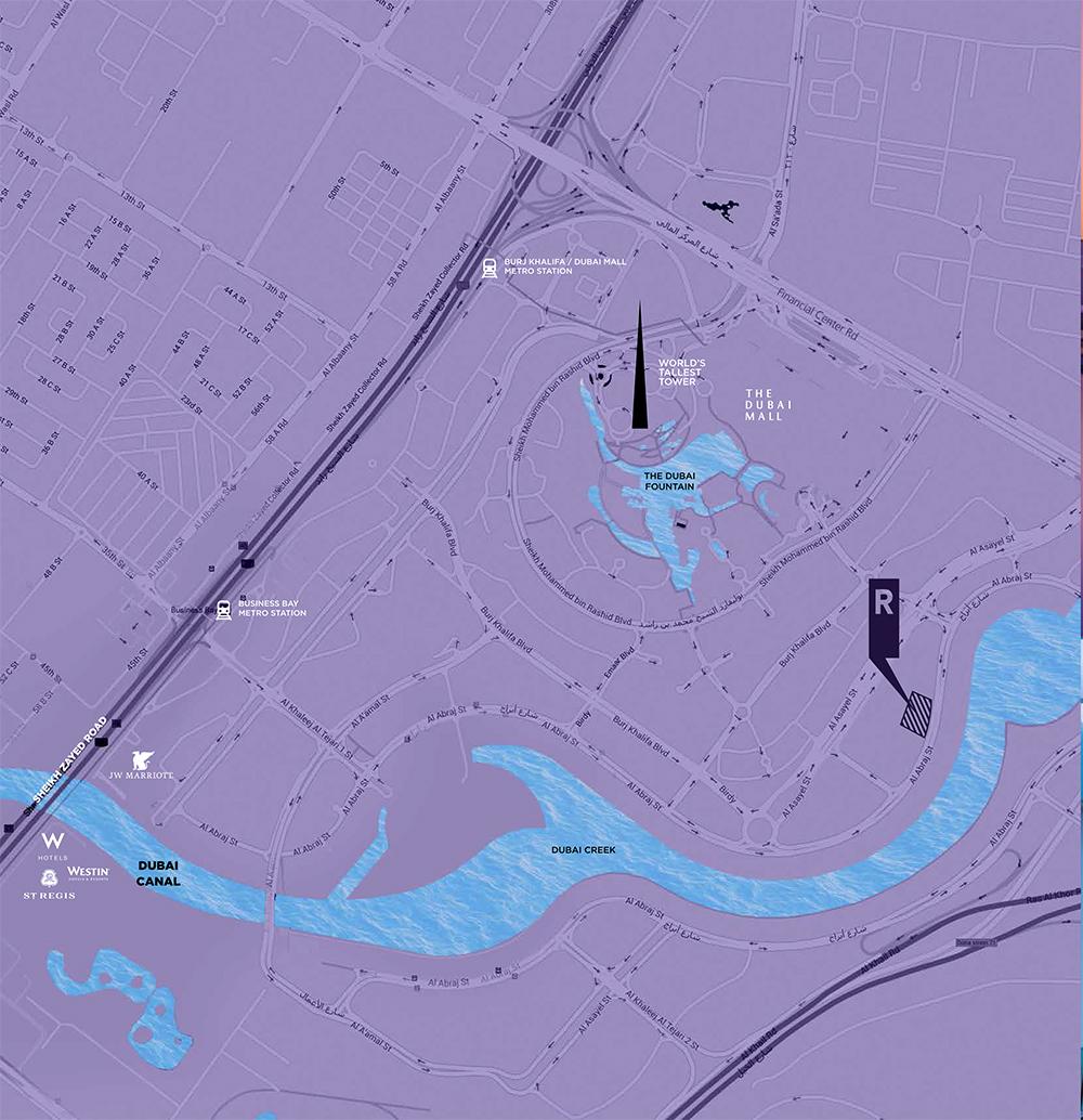 ريفا-ريزيدنس خريطة الموقع