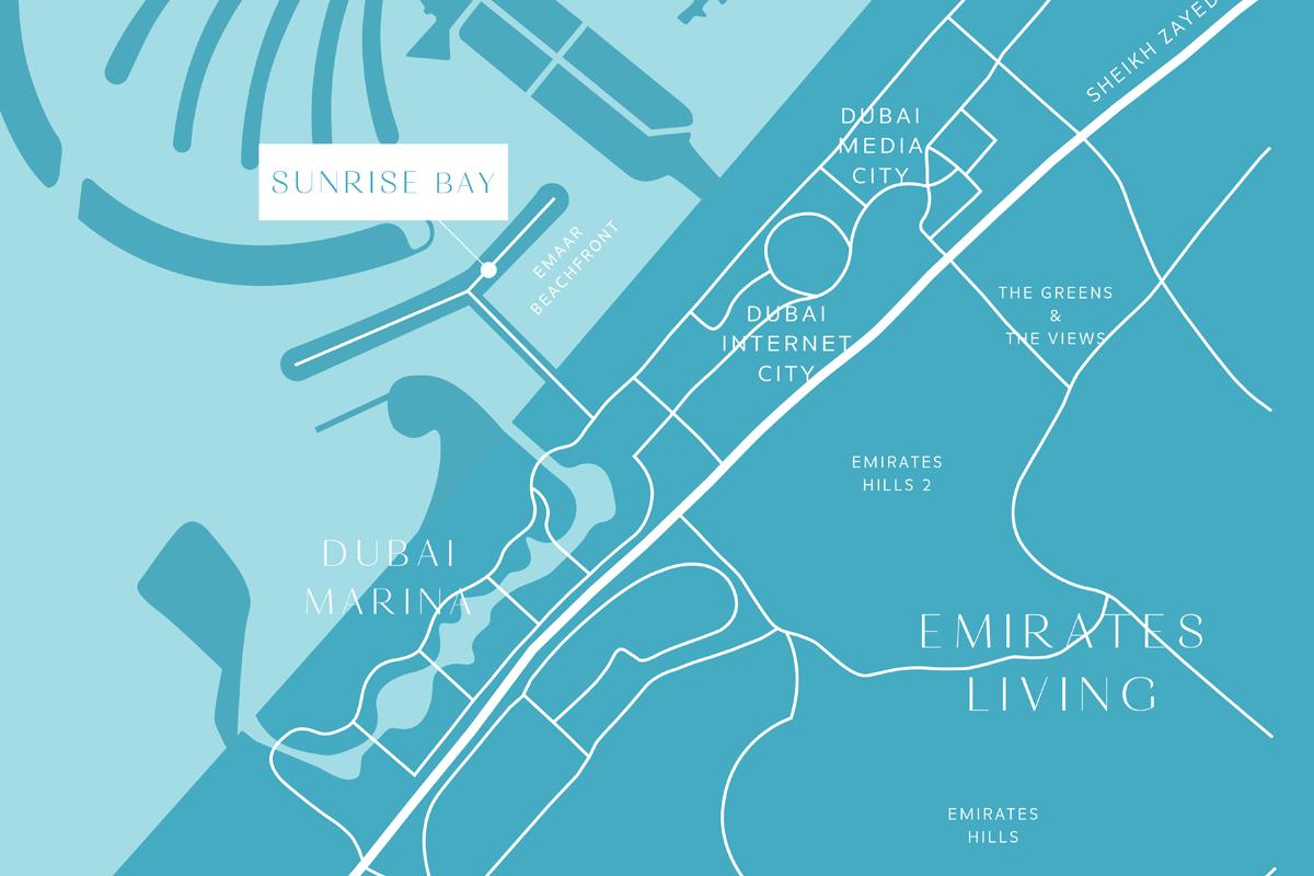 سنرايز-بي خريطة الموقع