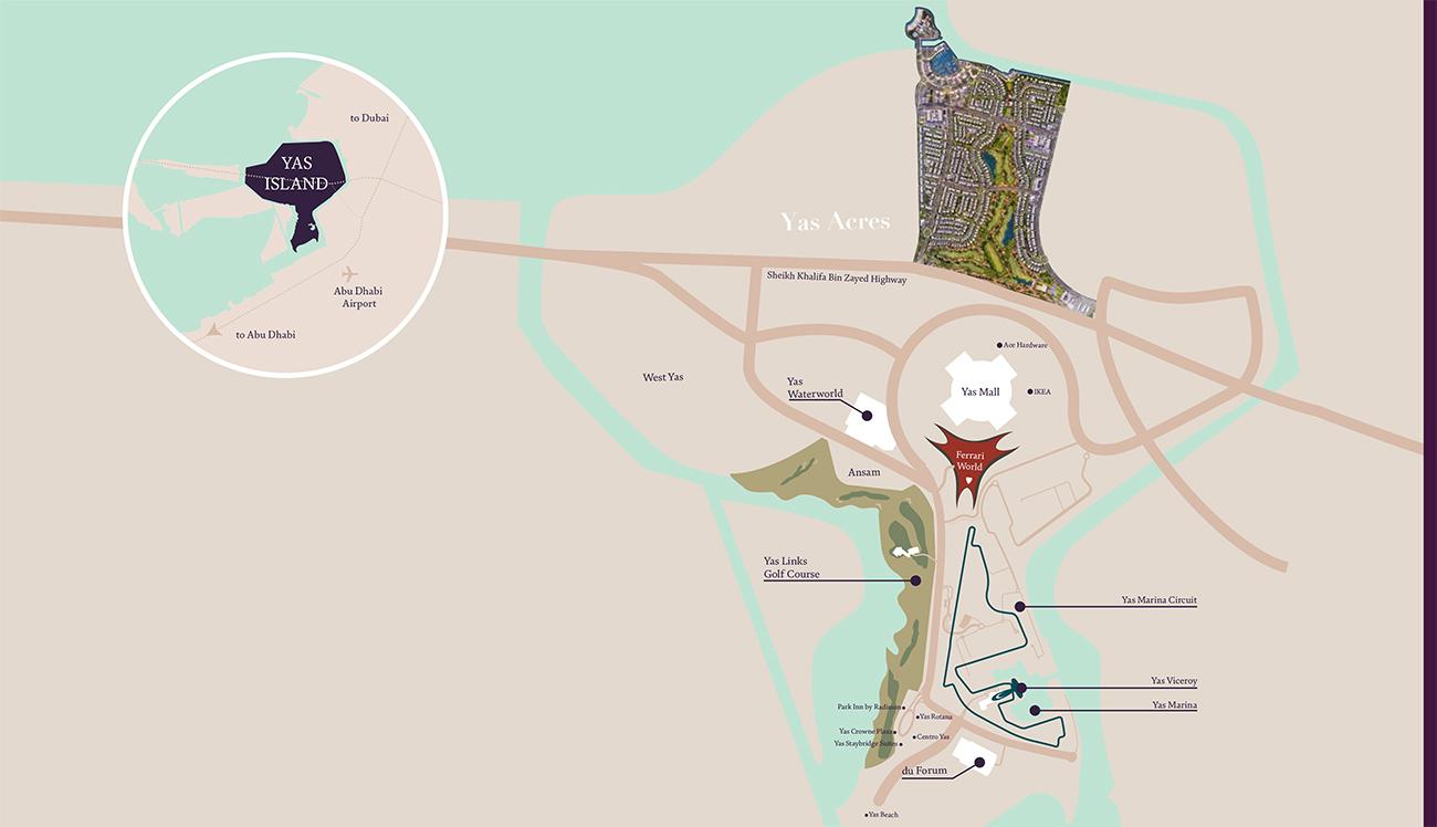 ياس-أيكرز خريطة الموقع