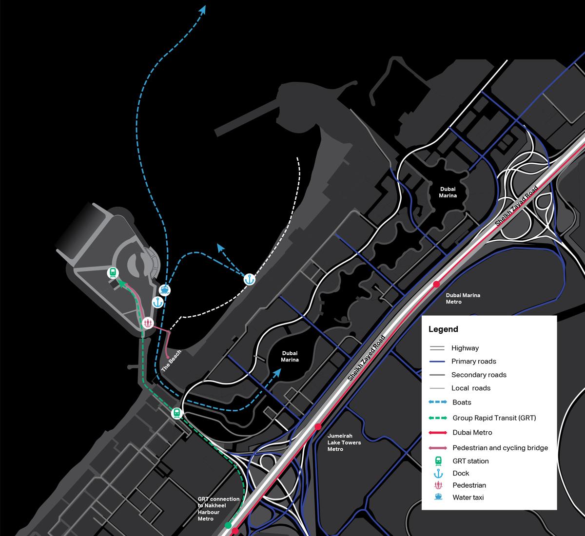 بلو-واتر-ريزيدنس خريطة الموقع